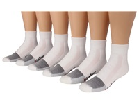 Fox River Wick Dry Triathlon Quarter Cool Max X Training 6 Pair Pack White Quarter Length Socks Shoes