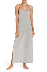 Stem Women's Strappy Back Cover Up Maxi Dress Grey Heather