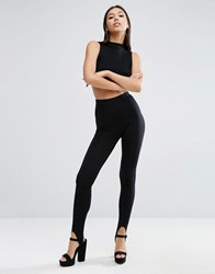 Asos Stirrup Leggings Black