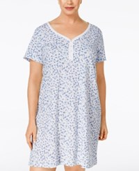 Charter Club Plus Size Henley Sleepshirt Only At Macy's Whimsy Floral