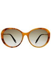 Victoria Beckham Fine Oval Sunglasses Brown