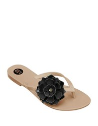 Melissa Harmonic Flower Thong Sandals Pink Black