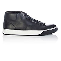 Lanvin Men's Mid Top Sneakers Black White Blue Black White Blue