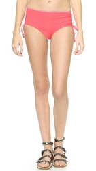 Marc By Marc Jacobs Solid Marc Side Tie Hipster Bikini Bottoms Geranium Multi
