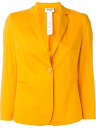 Akris Fitted Blazer Yellow And Orange