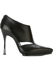 Ann Demeulemeester Cut Out Detail Boots Black