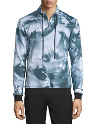 Opening Ceremony Motion College Zip Front Pullover Black Multi Black Multi