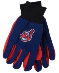 Forever Collectibles Cleveland Indians Palm Gloves Red