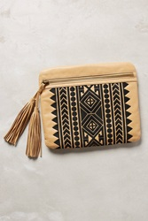 Twelfth St. By Cynthia Vincent Nomad Fringed Clutch Cedar