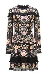 Needle And Thread Embroidery Lace Mini Dress Black