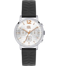 Orla Kiely Ok2003 Frankie Leather And Stainless Steel Watch Silver
