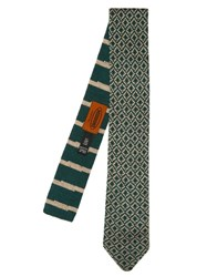 Missoni Wool Knit Tie Green Multi