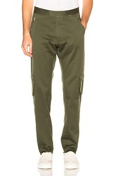 Baja East Cotton Canvas Trousers In Green