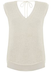 Mint Velvet Ivory Sleeveless Shell Top