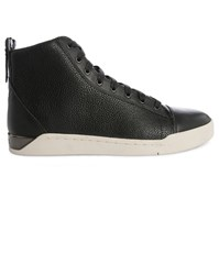 Diesel Black Galucha New Diamond Smooth Leather Sneakers