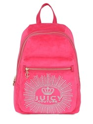 Juicy Couture Crown Jewel Velour Backpack
