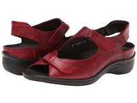 Ara Maya Red Leather Women's Sandals