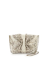 Carlos Falchi New Baby Small Snakeskin Shoulder Bag Russel Snake