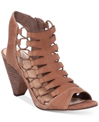 Vince Camuto Eliaz Gladiator Dress Sandals Women's Shoes Smoke Taupe
