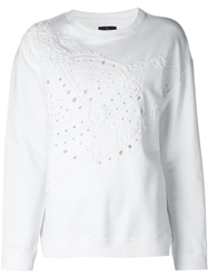 Vivienne Westwood Anglomania Cut Out Detail Embroidered Sweatshirt