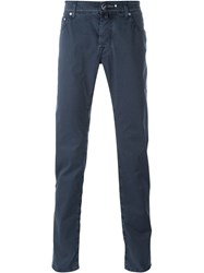 Jacob Cohen Classic Chino Trousers Blue