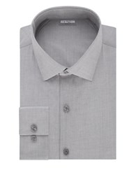 Kenneth Cole Reaction Techni Performance Slim Dress Shirt Grey Frost