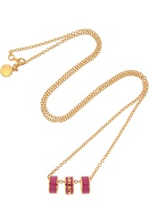 Marc By Marc Jacobs Sweetie Rings Gold Tone And Enamel Necklace