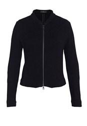 Hallhuber Velveteen Crop Jacket Black