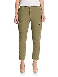 Rag And Bone Cropped Cargo Pants Army