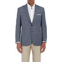 Brioni Men's Neat Pattern Colosseo Sportcoat Blue