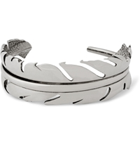 Alexander Mcqueen Silver Plated Feather Bracelet