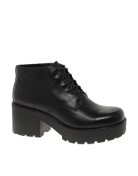 Dioon Lace Up Ankle Boots Black