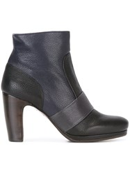 Chie Mihara Contrast Panel Ankle Boots Blue