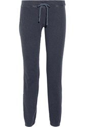 James Perse Genie Supima Cotton Terry Track Pants Blue