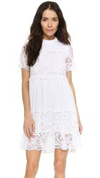 Kendall Kylie Lace Babydoll Dress White