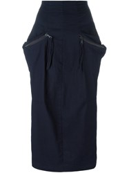 Rundholz Pocket Detail Fitted Skirt Blue