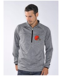 G3 Sports Men's Cleveland Browns Franchise Quarter Zip Pullover Gray