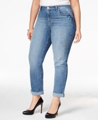 Styleandco. Style Co. Plus Size Embroidered Craft Wash Boyfriend Jeans Only At Macy's