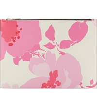 Victoria Beckham Graphic Daisy Print Large Pouch Pink Floral