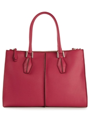 Tod's Medium 'D Cube' Shopping Tote Pink And Purple