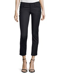 Cnc Costume National Low Rise Skinny Cropped Pants Black Women's