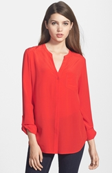 Trouve Trouve Silk Blouse Red Scarlet