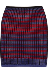 M Missoni Crochet Knit Cotton Blend Mini Skirt Red