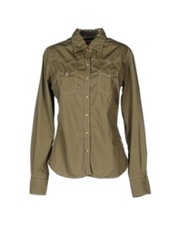 Reddie Long Sleeve Shirts Military Green