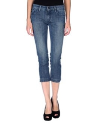 Fay Denim Capris Blue