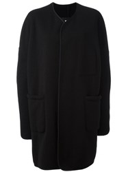 Yohji Yamamoto Single Breasted Coat Black