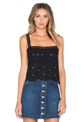 Marc By Marc Jacobs Broiderie Anglaise Tank Black