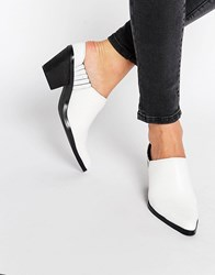 Warehouse Western Mule Boot White