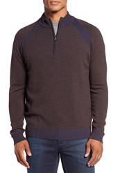 Robert Graham Men's Jovanni Wool Quarter Zip Sweater