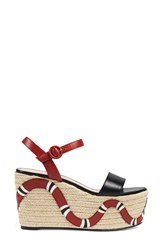 Gucci Women's Barbette Espadrille Wedge Sandal